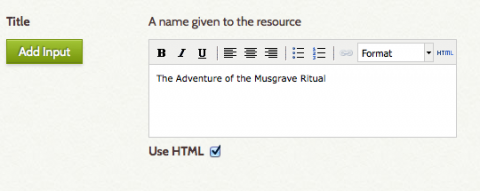 title field html editor enabled