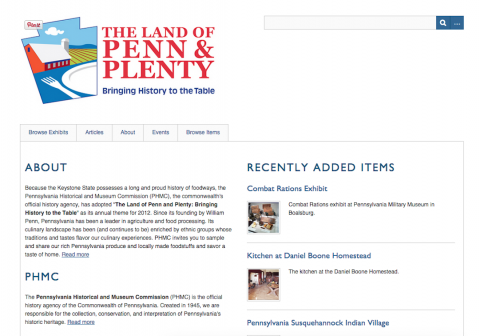 Home page for Land of Penn & Plenty