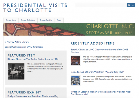 Homepage of Presidential Visits to Charlotte