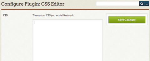 CSS Editor plugin screencap