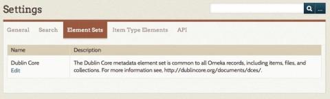 Screencap showing how to access edit Dublin Core metadata